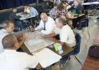 Administrators from Copperas Cove Independent School District work through a tabletop exercise with emergency responders during an active shooter scenario.