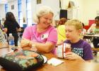 Nellie Twilleager enjoys spending time with her grandson, Eric Heriford, at Friday's