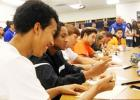 Nine Copperas Cove student-athletes participate in a signing ceremony Wednesday at the school.